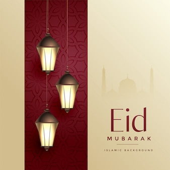 Islamic eid festival design creativo