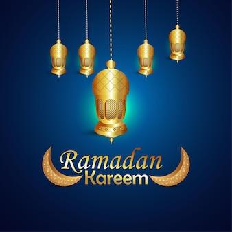 Concetto di design e sfondo del festival islamico ramadan kareem