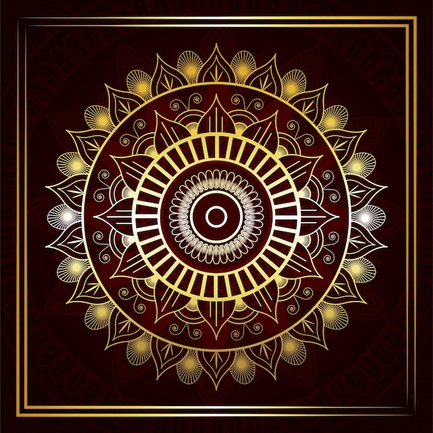Sfondo di mandala di lusso dorato islamico