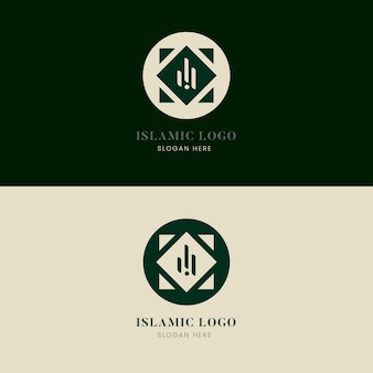 Collezione logo islamico in due colori