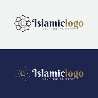 Collezione di loghi islamici in due colori