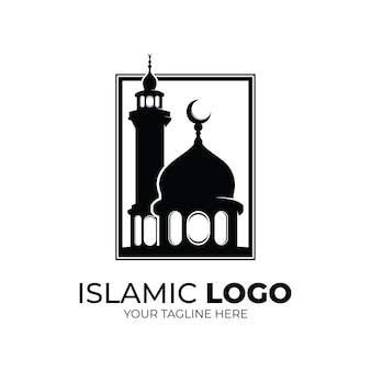 Logo islamico - ispirazione per il design del logo della moschea