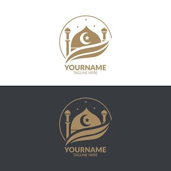 Modello di logo islamico Vettore Premium