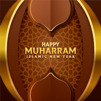 Capodanno islamico in stile carta