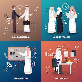 Concetto di design del partenariato islamico