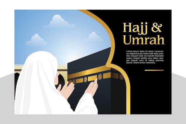Sfondo di pellegrinaggio islamico hajj