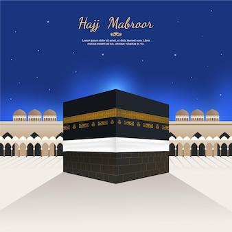 Sfondo realistico di pellegrinaggio islamico (hajj)