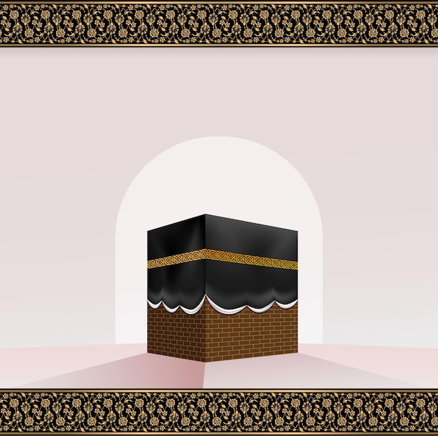Kaaba islamico realistico per hajj (pellegrinaggio) alla mecca