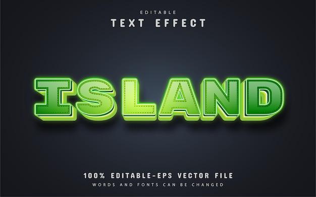 Testo dell'isola, effetto di testo 3d modificabile