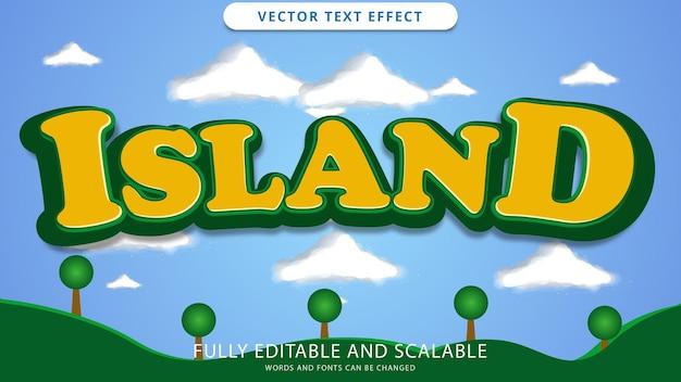 File eps modificabile effetto testo dell'isola