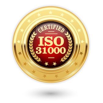 Medaglia certificata iso 31000 - gestione del rischio