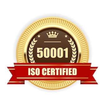 Medaglia certificata iso 50001 - gestione energetica