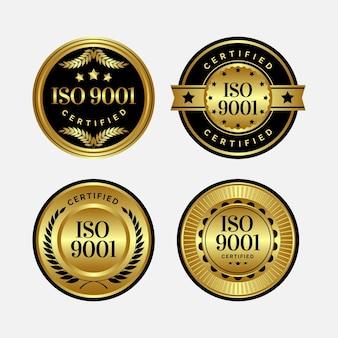 Modello di badge di certificazione iso