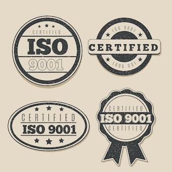 Collezione di francobolli di certificazione iso