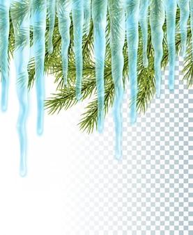 Bordo isolato con ghiaccioli