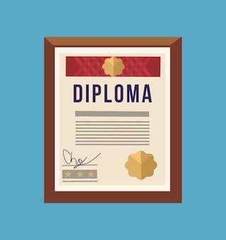 Diploma di modello di certificato isolato.