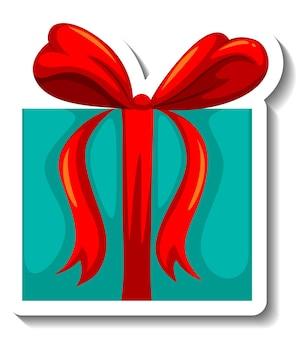 Adesivo scatola regalo isolata