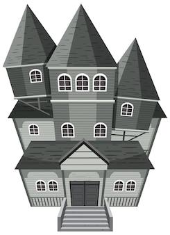 Facciata isolata della casa stregata