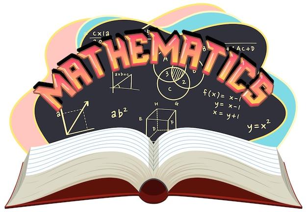 Banner di carattere matematica isolato