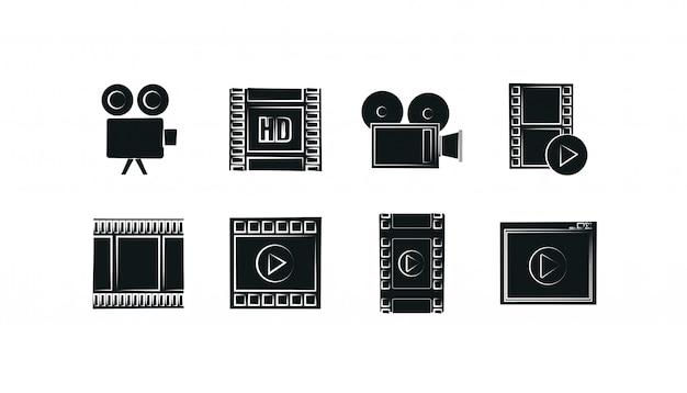 Set di icone film isolato