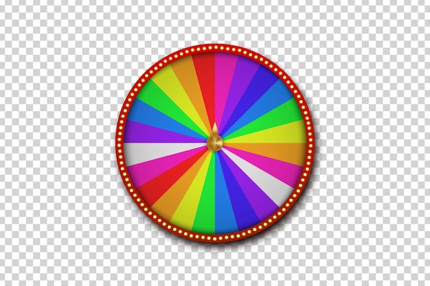 Ruota della roulette fortuna realistica isolata