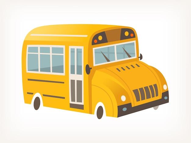 Immagine vettoriale isolata di scuolabus giallo