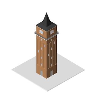 Icona 3d isometrica. casa illustrazione vettoriale eps 10