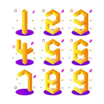 Numeri 3d isometrici