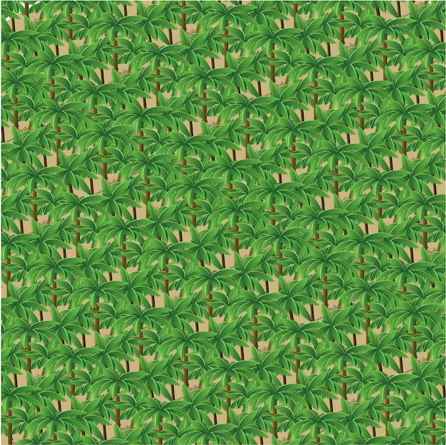Natura isometrica della foresta degli alberi 3d