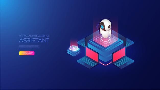 Assistente di intelligenza artificiale isometrica
