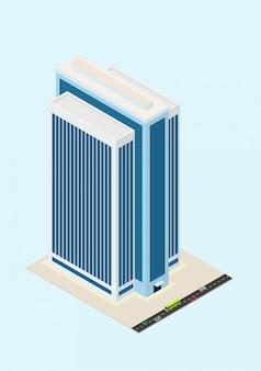 Edificio isometrico