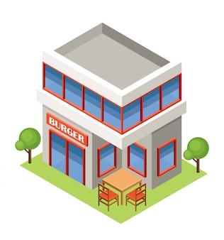 Burger house isometrica.