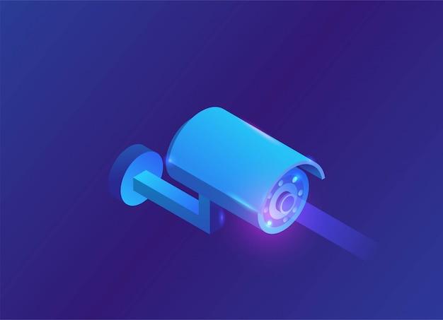 Illustrazione isometrica del video 3d della macchina fotografica isometrica