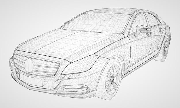 Modello di modello di auto isometrica