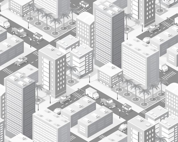 Industria della mappa della città isometrica