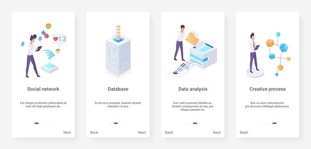 Analisi dei dati isometrici, ux dei social network, ui