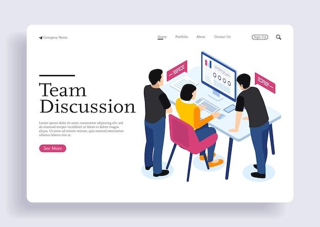 Concetti di design isometrici per affari e finanza concetti per tasse e finanza con personaggi