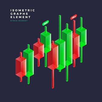 Elemento grafico isometrico Vettore Premium