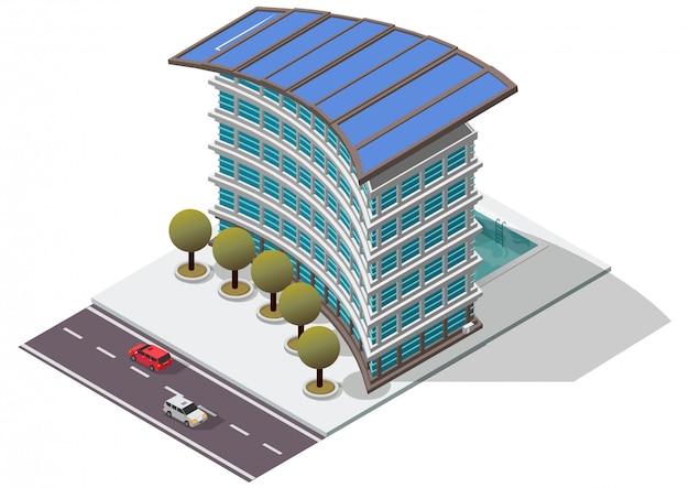 Costruzione di appartamento isometrica dell'hotel