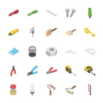 Pacchetto isometrico di oggetti