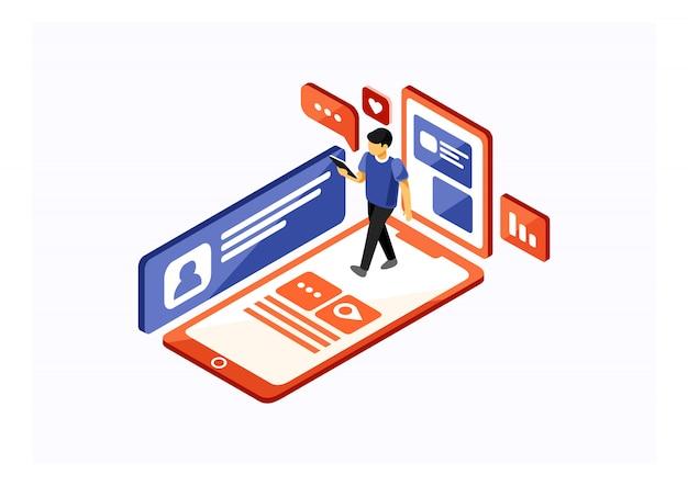 Social media isometrici