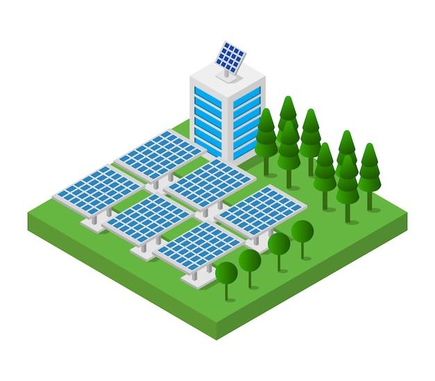Pannello solare isometrico