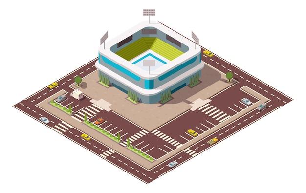 Arena sportiva isometrica.