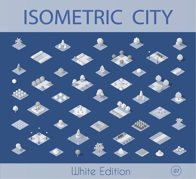 Raccolta set vettoriale isometrica