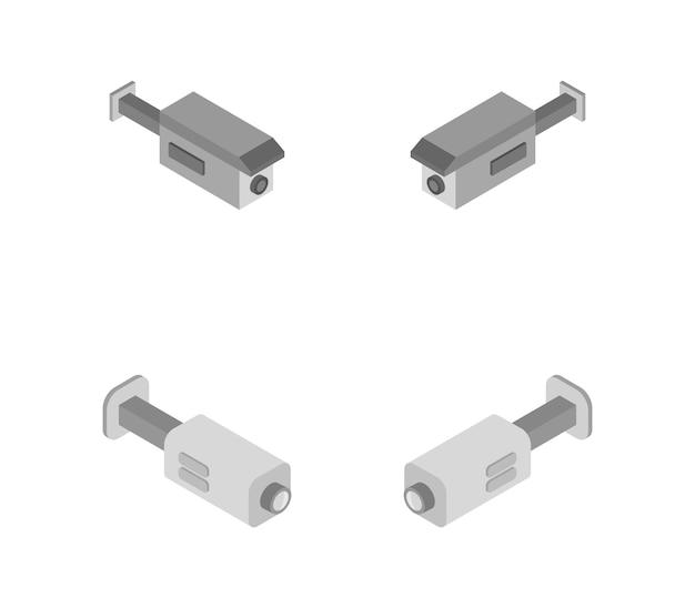 Set di telecamere di videosorveglianza isometrica