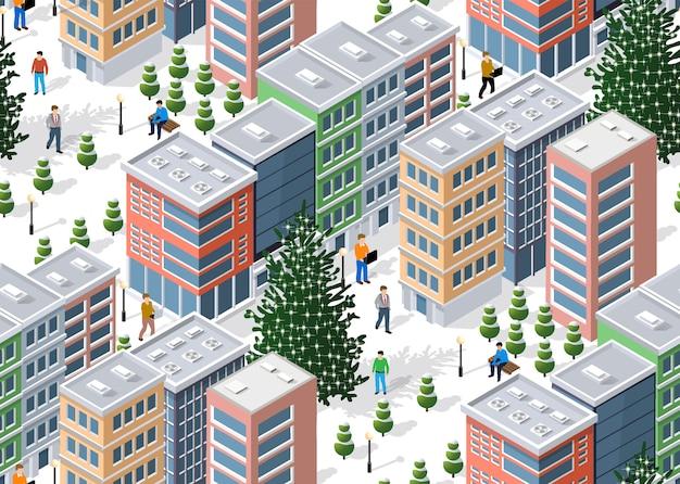 Città invernale isometrica