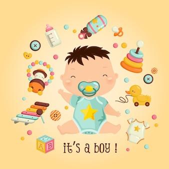 È un ragazzo e i suoi giocattoli