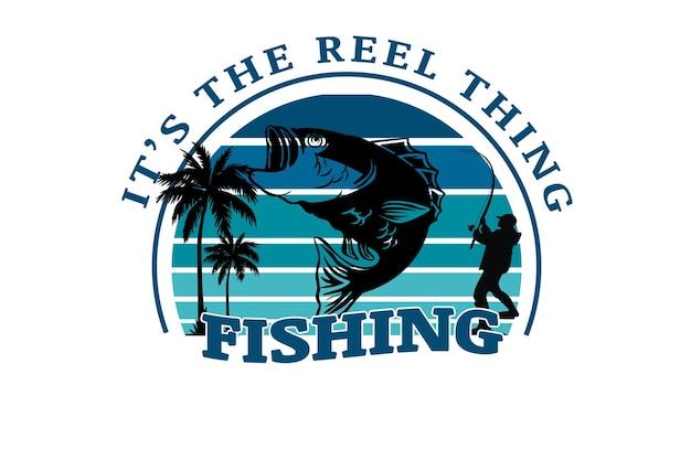 Sono le cose del mulinello che pescano colore blu sfumato