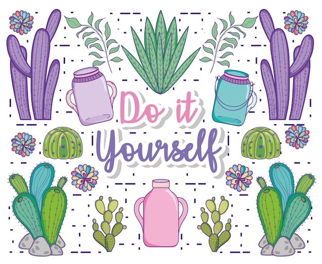 Concetto di giardinaggio fai da te fai da te