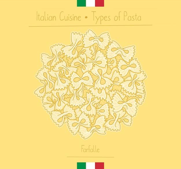 Pasta italiana farfalle con papillon